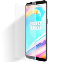 Olixar for OnePlus 5T Screen Protector - Tempered Glass 9H Rated - Shock Protection - Easy Application, Card and Cleaning Cloth Included - Clear