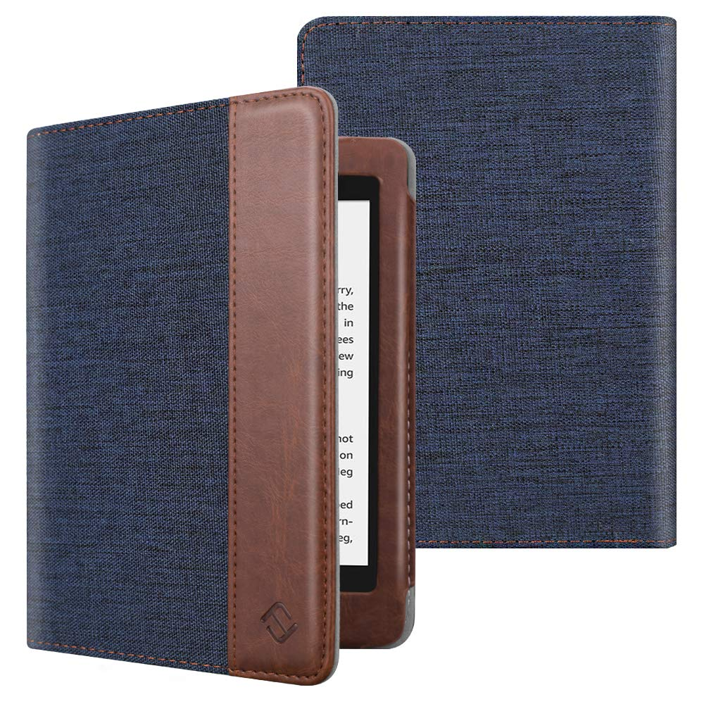 Fintie Folio Case for Kindle Paperwhite (Fits All-New 10th Generation 2018 / All Paperwhite Generations) - Book Style Premium Fabric Shockproof Cover with Auto Sleep/Wake, Denim Indigo