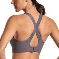 SYROKAN High Impact Sports Bras for Women Wirefree Full Coverage Active Padded Sports Bra