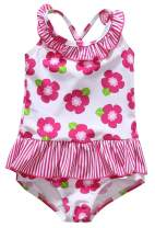 Anwell Baby Girls' One Piece Swimsuit Toddler Girl Sleeveless Ruffles Swimwear