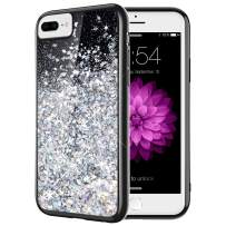 Caka iPhone 7 Plus Case, Starry Night Series Bling Flowing Floating Luxury Liquid Sparkle Soft TPU Glitter Case for iPhone 6 Plus 6S Plus 7 Plus 8 Plus (5.5 inch) (Silver)