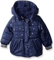 Nautica Girls Printed Puffer Coat with Removable Hood