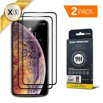 GPEL Screen Protector for iPhone Xs/iPhone 11 Pro Compatible Real Tempered Glass Case-Friendly Work with Most Case [HD Clarity] 9H Hardness 99% Touch Accurate (2-Pack)
