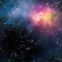 AOFOTO 5x5ft Starry Night Sky Photography Background Nebula Backdrop Dreamy Stars Universe Galaxy Outer Space Kid Boy Girl Child Adult Artistic Portrait Photoshoot Studio Props Video Drape Wallpaper