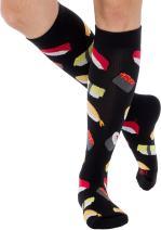 Fun Running Compression Socks - Graduated 15-25mmHG Colorful Knee High Sport Socks for Men and Women - LISH