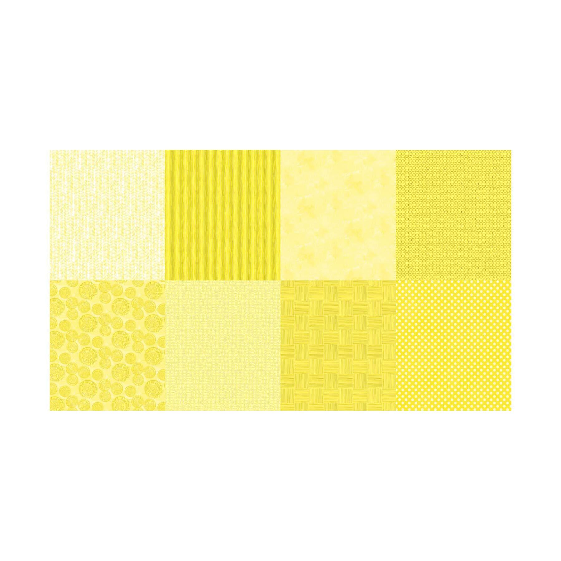 Hoffman Fabrics Hoffman Digital Details 90'' Blender Panel Fabric, Lemon