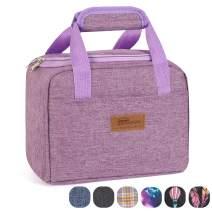HOMESPON Insulated Lunch Bag Lunch Box Cooler Tote Box Cooler Bag Lunch Container for Women/Men/Children/School/Work/Picnic,purple