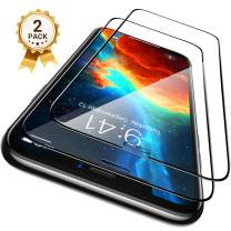 CASEKOO [Shatterproof] Compatible with iPhone 11 Pro Max Screen Protector iPhone Xs Max Screen Protector [Full Coverage] Clear Tempered Glass for iPhone 11 Pro Max/Xs Max [6.5inch] - (2-Pack)
