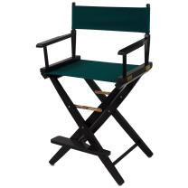 """American Trails Extra-Wide Premium 24"""" Director's Chair Black Frame with Hunter Green Canvas, Counter Height"""