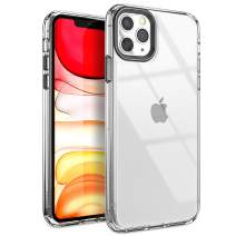 YOUMAKER Stylish Crystal Clear Case for iPhone 11 Pro Max, Anti-Scratch Shock Absorption Slim Fit Drop Protection Premium Bumper Cover Case for iPhone 11 Pro Max 6.5 inch (2019) - Clear/Black