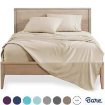 Bare Home Full Sheet Set - Kids Size - 1800 Ultra-Soft Microfiber Bed Sheets - Double Brushed Breathable Bedding - Hypoallergenic - Wrinkle Resistant - Deep Pocket (Full, Sand)