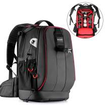 Neewer Pro Camera Case Waterproof Shockproof Adjustable Padded Camera Backpack Bag with Anti-Theft Combination Lock for DSLR DJI Phantom 1 2 3 Drone/Tripods/Flash/Lens and Other Accessory (Red Inner)