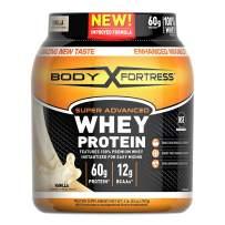 Body Fortress Super Advanced Whey Protein Powder, Gluten Free, Vanilla, 4 Pound