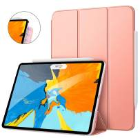 """MoKo Magnetic Smart Folio Case Fit iPad Pro 11"""" 2018 - [Support Pencil Magnetically Attach Charge/Pair] Slim Lightweight Shell Stand Cover, Auto Wake/Sleep for iPad Pro 11 Inch - Rose Gold"""