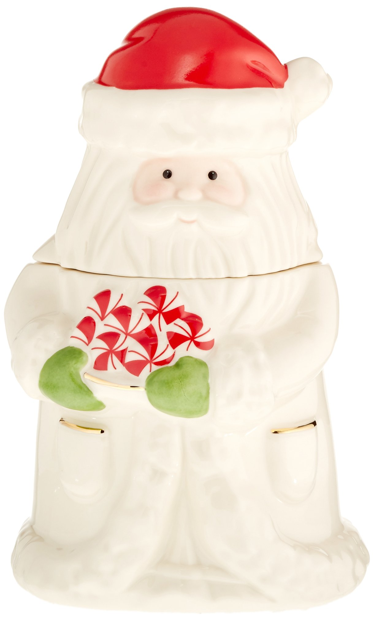 Lenox Peppermint Santa Treat Jar