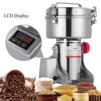 APWONE 1000gram Electric Grain Mills Grinder Powder LCD Digital Stainless Steel Ultra Grinder Machine Pulverizer for Kitchen Herb Spice Pepper Coffee Corn