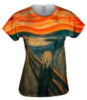 Yizzam- Edvard Munch - The Scream (1895) -Tshirt- Womens Shirt