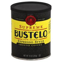 Supreme By Café Bustelo Coffee Espresso Style Ground Coffee, 10 Ounces (Pack of 12)
