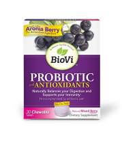 Biovi Probiotic Antioxidant Blend Chewable Tablets, 30 Count