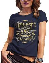 Fight for The Alliance Wow Gamer Shirt Warcraft Gift for Nerds Geeks Women's