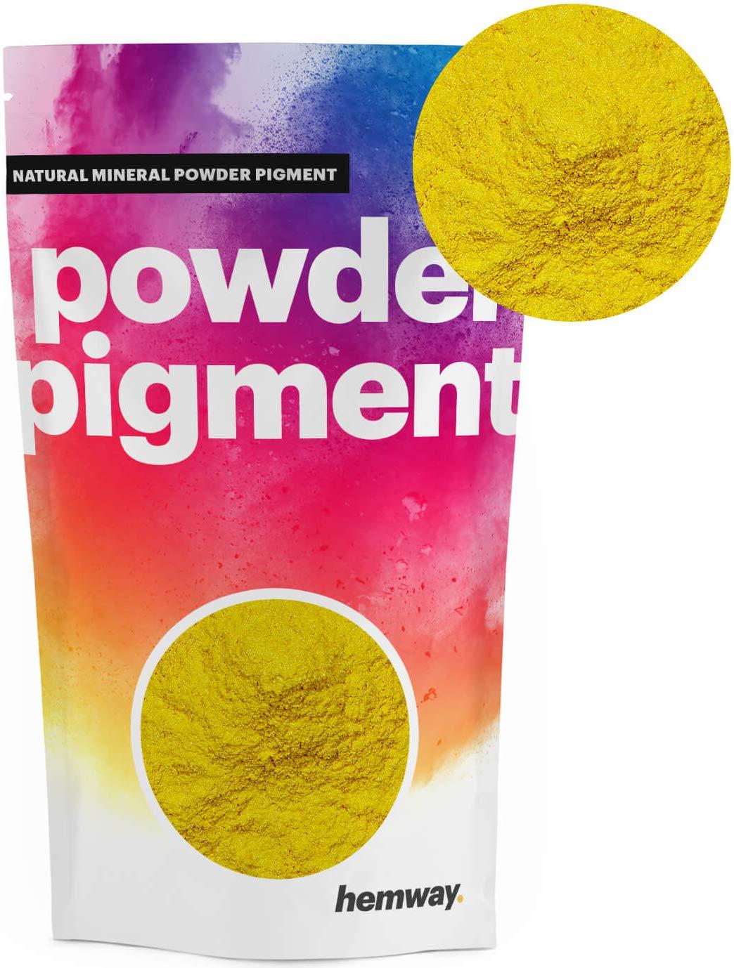 Hemway | Natural Mineral Pigment Powder [100g Metallic Mustard Yellow]