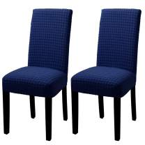 YISUN Dining Chair Covers Stretch Dining Chair Slipcovers Removable Washable Parsons Chair Protector Covers for Dining Room Set of 2, Blue
