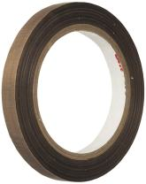 """3M 5151 1.625"""" x 36yd Light Brown PTFE Glass Cloth Tape -100 to 500 Degrees F Performance Temperature, 0.0053"""" Thick"""