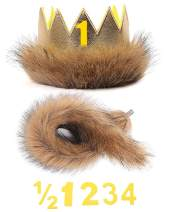 Shalofer Baby Photography Costume, Birthday Party Decorations Crown and Tail