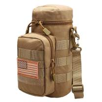AMYIPO Tactical MOLLE Water Bottle Pouch Holder Storage Bag for 32oz Carrier