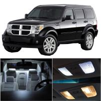 cciyu 15 Pack White Led Bulb Led Interior Lights Accessories Replacement Package Kit Replacement fits for 2007-2011 Dodge Nitro