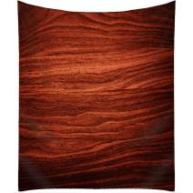 QCWN Wood Tablecloth,Luxury Red Wooden Retro Boho Style Tablecloth,Dining Room Kitchen Rectangular Table Cover.Red 55x78Inch