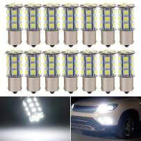 EverBright 20-Pack Extremely Bright White 1156 BA15S 1141 1073 1095 1003 7506 24-SMD LED Car Replacement Interior RV Camper Rear Turn Signal,Back Up,Parking Side Marker Light Bulb DC 12V