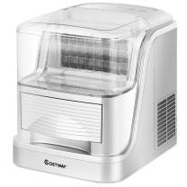 COSTWAY Portable Ice Makers Large Capacity 33lbs of Ice per 24 hours Compact Automatic Clear Ice Cube Maker Storage Electric Easy Countertop Freestanding Ice Maker Machine (33LBS/24H)