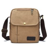 SIMU Canvas Shoulder Bag Vertical Messenger Bag for iPad and Tablets