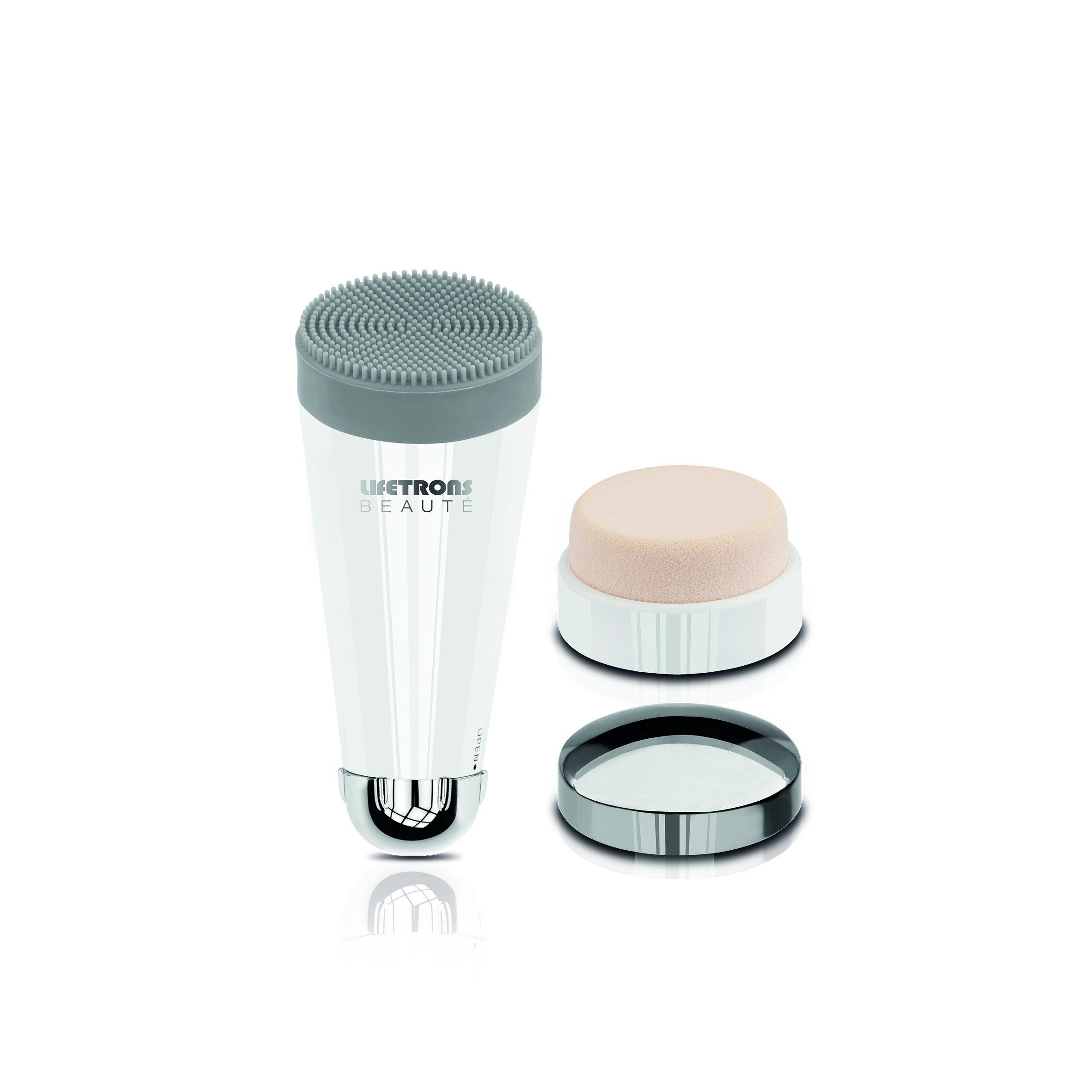 Lifetrons Beauté 3-in-1 Facial Kit - Cleanse, Massage & Apply Makeup EM-600P-WH