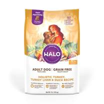 Halo Grain Free Natural Dry Dog Food, Healthy Weight Adult Turkey, Turkey Liver & Duck Recipe