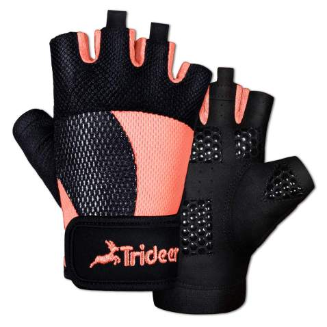 Workout Gloves Breathable Non-Slip Silica Gel Grip Exercise Gloves Men and Women for Weightlifting,Yoga,Dumbbell,Bodybuilding Sport Black