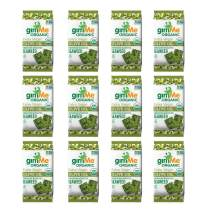 gimMe Organic Roasted Seaweed - Extra Virgin Olive Oil - 12 Count - Keto, Vegan, Gluten Free - Great Source of Iodine and Omega 3's - Healthy On-The-Go Snack for Kids & Adults
