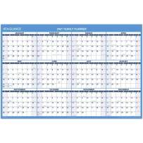 """2021 Erasable Calendar, Dry Erase Wall Planner by AT-A-GLANCE, 48"""" x 32"""", Jumbo, Academic & Regular Year, Double Sided, Horizontal (PM326S28), Model: PM326S2821"""