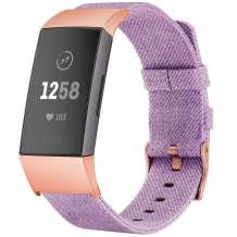 TOYOUTHS Compatible with Fitbit Charge 3 Bands Charge 3 SE Bands for Women Rose Gold Replacement Strap Sports Band Accessories Wristband for Men Small Large Compatible Fitbit Charge 3 XL