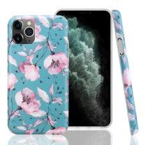 GOLINK Case for iPhone 11 Pro,Floral Series Slim-Fit Ultra-Thin Anti-Scratch Shock Proof Dust Proof Anti-Finger Print TPU Gel Case for iPhone XI Pro 5.8 inch(2019 Release)-Pink Flower