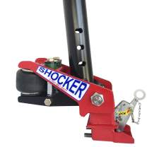 """Gooseneck Surge Air Hitch for Big Tex Trailers - 30,000 lbs, Round 3-15/16"""" & Angle Pin Holes 20-30°, Shift Lock Coupler 30,000 lbs"""