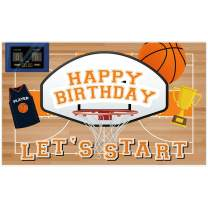 Allenjoy 5x3ft Vinyl Basketball Themed All Star Backdrop Supplies for Boys 1st Birthday Party Decorations Newborn Children Cake Smash Baby Shower Studio Photography Photo Booth Props Favors Background
