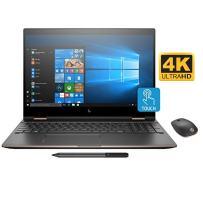 "HP Spectre x360 15t 2-in-1 Convertible Laptop (8th Gen i7-8705G, 32GB RAM, 1TB Sata SSD, 15.6"" UHD Micro-Edge Touch Corning Gorilla, Radeon RX Vega, Win10 Pro) Dark Ash with HP Z5000 Bluetooth Mouse"