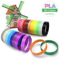 UnityStar 3D Pen Filament 1.75mm, 20 Colors 3D Printer PLA Filament Refills 3D Printing Pen Refills, 16.4 Feet Each Color, Total 328 Feet, High-Precision Diameter Filament