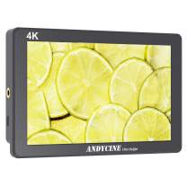 """Andycine X7 Camera Field Monitor, 7 Inch 2200 nit Ultra-Bright 1920X1200p 3 Screw 1/4"""" Threads with 4K HDMI Input and Output Rugged CNC Aluminum Housing for DSLR"""
