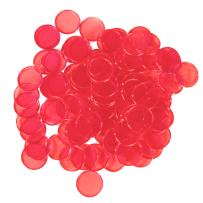 """Plastic Magnetic Bingo Chips - Metal Edge - 300pcs - 3/4"""" - Available in 7 Colors in A Reusable Storage Bag"""