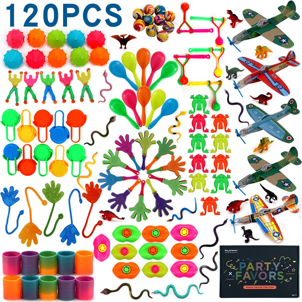 Amy&Benton 120PCS Pinata Filler Kids Birthday Party Favors for Goodie Bag Fillers Carnival Prize for Kids Prize Box Toys for Classroom Treasure Box Prizes Bulk Toy Assortment for Boys
