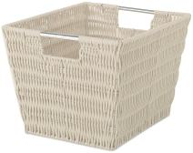 Whitmor Rattique Small Storage Tote Latte