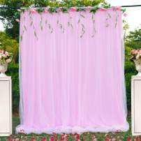 Pink Tulle Backdrop Curtain for Parties Weddings Baby Shower Birthday Bridal Shower Photography 5ft x 7ft Drape Backdrop